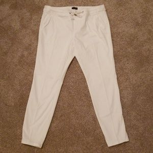 The Limited white ankle pants